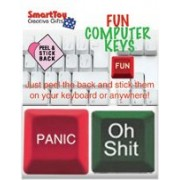 Fun Computer Keys (2 Pack) - Oh Shit Button, Panic Button